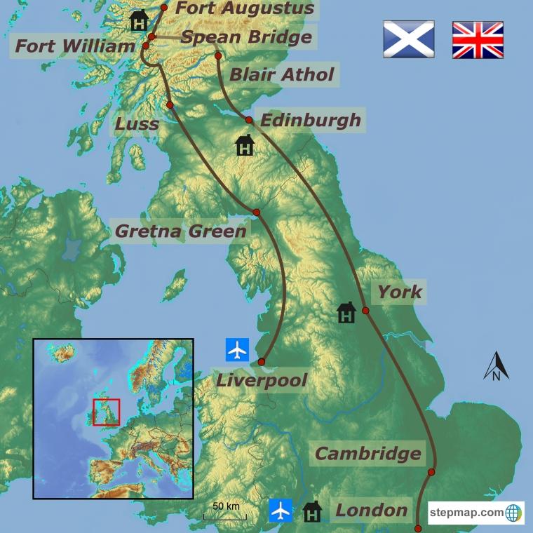 Inglismaa-Šotimaa ringreis ja pealinn London