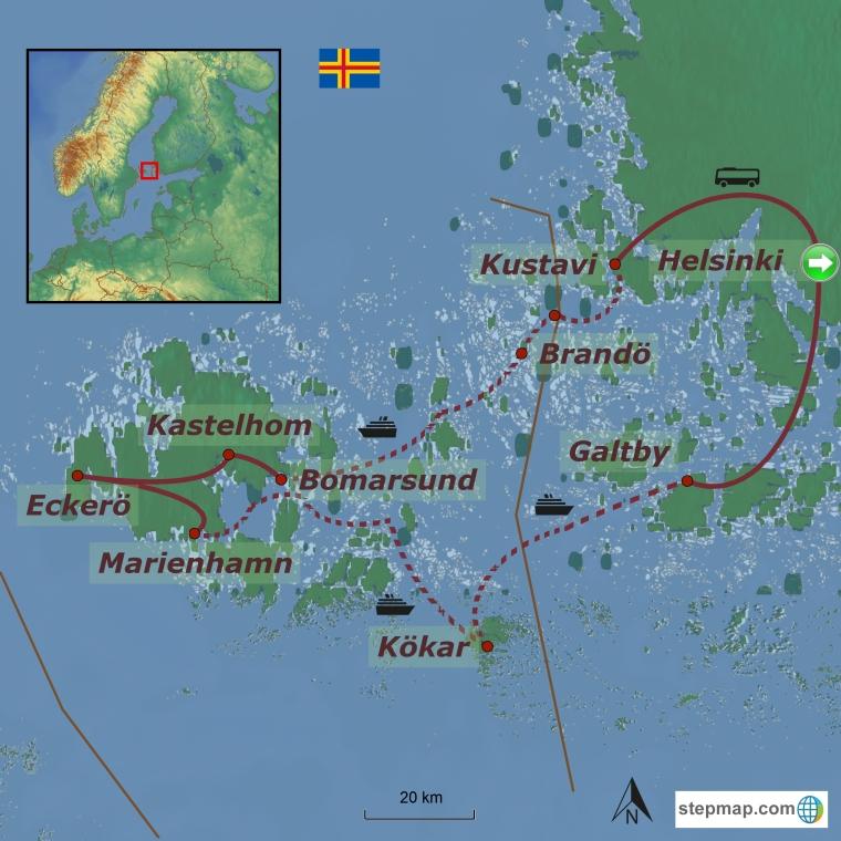 Ahvenamaa - imeline maailm saartel