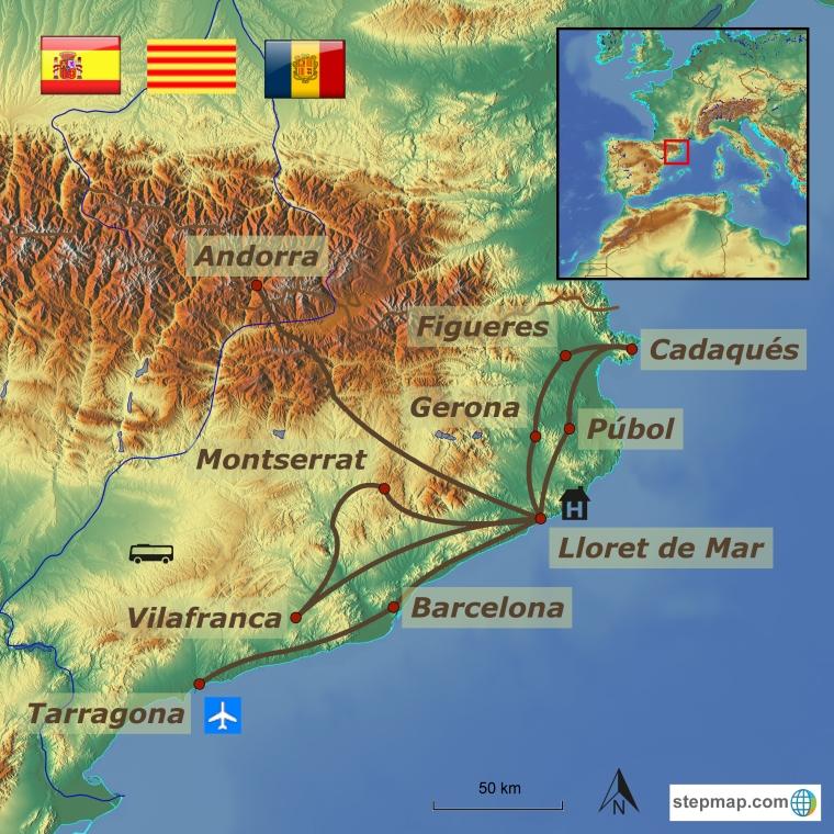 Hispaania - Costa Brava ja Kataloonia