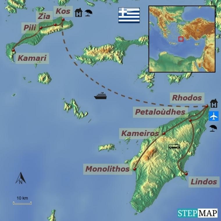 Kreeka - Kos ja Rhodos
