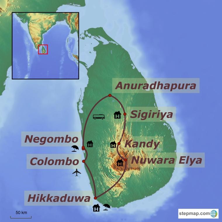 Sri Lanka ringreis ja rannapuhkus