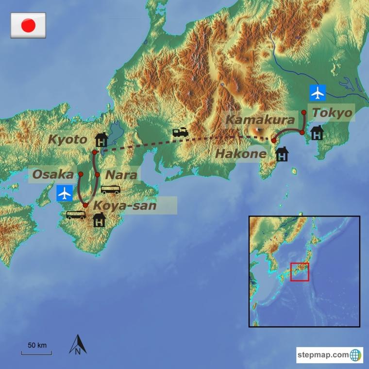 Jaapan - sügisene ringreis ja Koya mägi