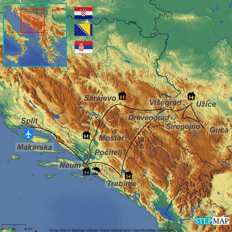 Serbia - Bosnia - Horvaatia
