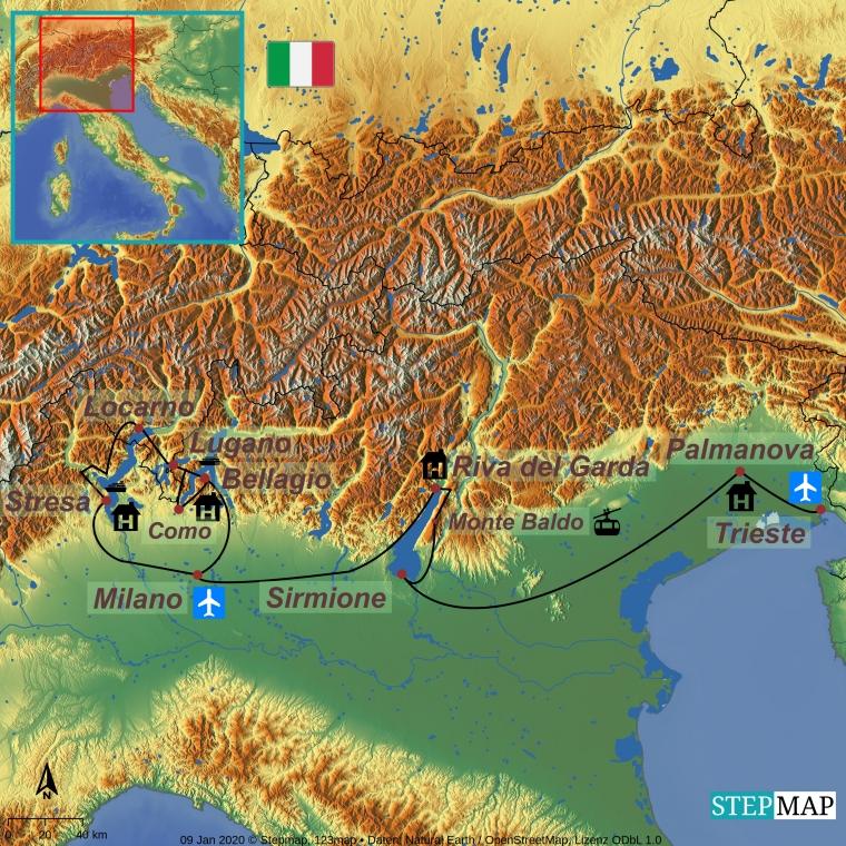 Itaalia järved ja mäed – Euroopa eliitpaigad