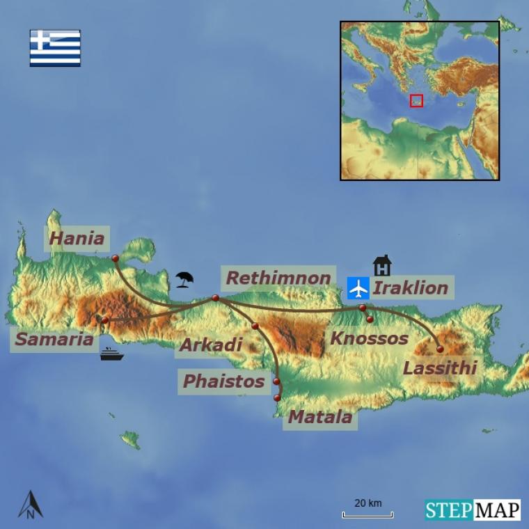 Kreeka - Santorini ja Kreeta kultuuri- ja puhkusereis