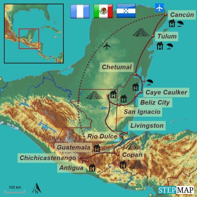 Guatemala - Belize - Honduras - Mehhiko