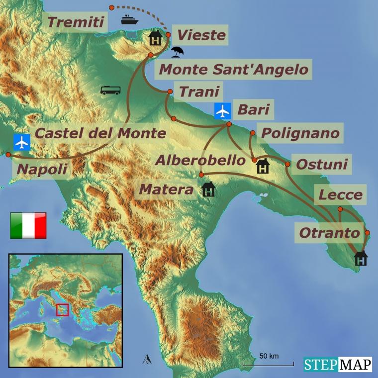 Itaalia - Apuulia ringreis gr 1