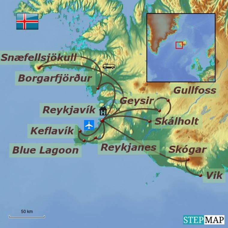 Island - tule ja jää maa