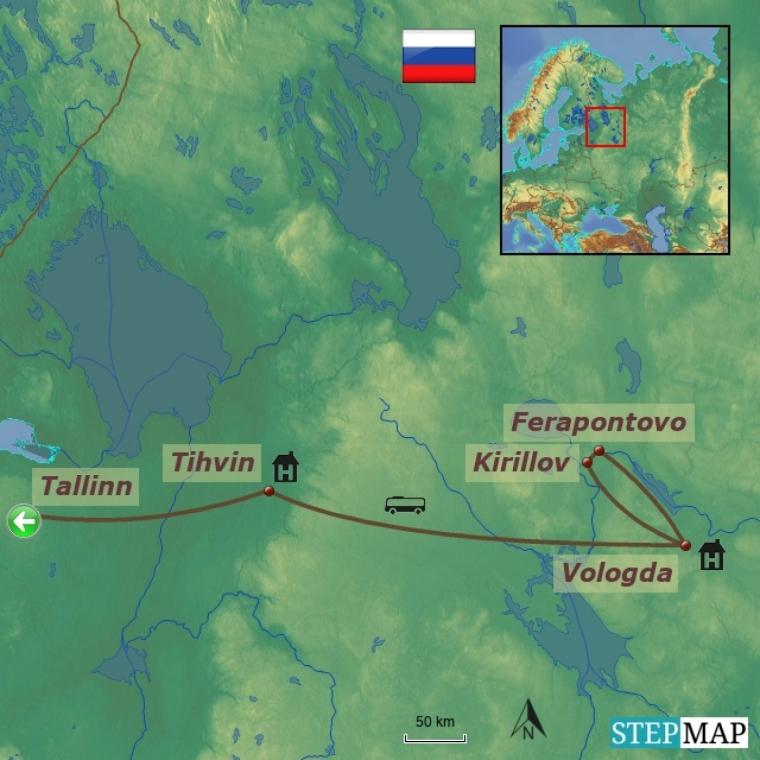 Venemaa - Tihvin ja Vologda, vanade linnade lummuses