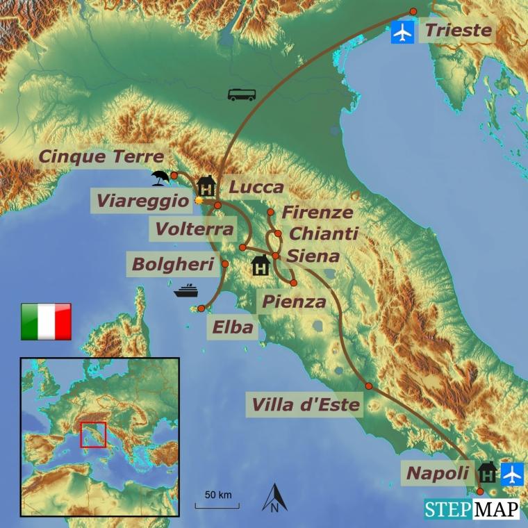 Itaalia - Toscana romantilised paigad