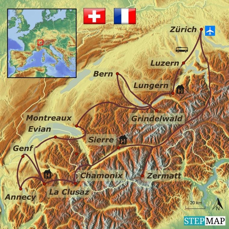 Šveits - Prantsusmaa  Alpid