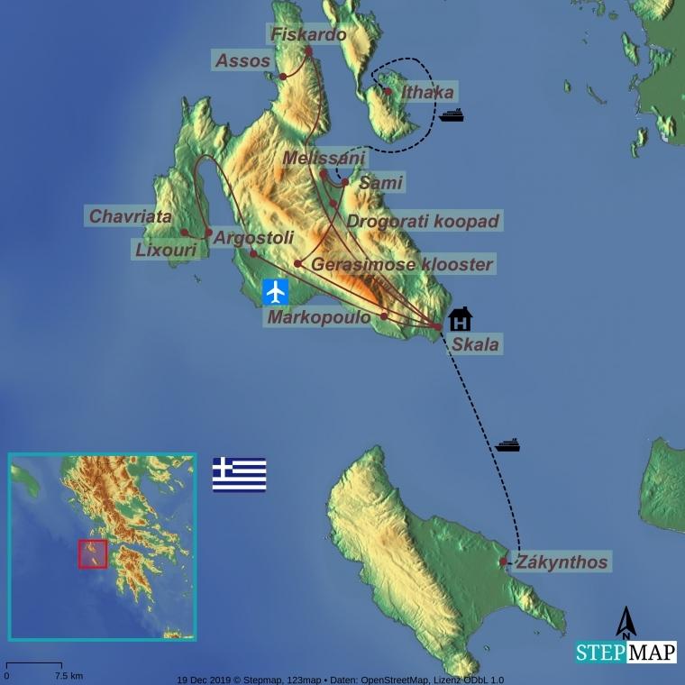 Kreeka saared - Kefalonia, Zakynthose ja Ithaka kultuuri- ja puhkusereis