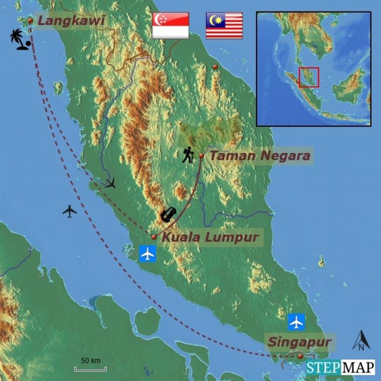Malaisia ja Singapur - suur ringreis ja rannapuhkus Langkawil